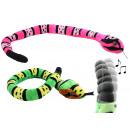 Großhandel Spielwaren: Klapperschlange  grün und pink sortiert ca 135 cm