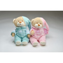 wholesale Nightwear: Bear with pyjamas and embroidery about 32 cm