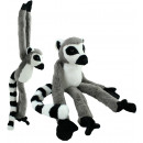 groothandel Poppen & Pluche: Monkey Lemur opknoping totaal ongeveer 85cm