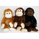 Großhandel Puppen & Plüsch: Affe sitzend 3 Farben sortiert ca 52 cm