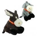 Großhandel Tücher & Schals: Esel 2-fach sortiert mit Halstuch - ca 40cm