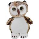 wholesale Dolls &Plush: Owl with glitter eye ca 45 cm