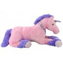 Großhandel Spielwaren: Einhorn liegend rosa - ca 94cm