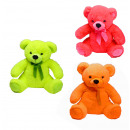 wholesale Dolls &Plush: Bear neon assorted  3-fold with glitter eye - about