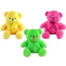 nagyker Hógömbök: Medve neon csillogó szemmel háromszor - kb. 50cm