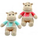 Großhandel Pullover & Sweatshirts: Nilpferd 2-fach mit Pullover sitzend ca 32cm