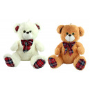 Bear 2- times assorted sitting with a checked bow