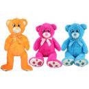Großhandel Puppen & Plüsch: Bär mit gestickten Augen 3 Farben sortiert - ca 75