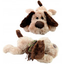wholesale Dolls &Plush: Dog superflauschig with glass eyes lying about 50