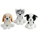 wholesale Dolls &Plush: Dog sitting 3 colored assorted - about 45 cm
