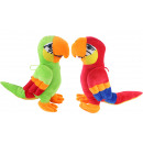 Großhandel Puppen & Plüsch: Papagei 2-fach sortiert ca 32 cm