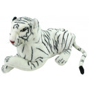 Tiger lying white ca 60 cm