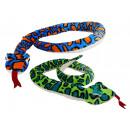 Serpente di peluche 2 colori assortito - circa 2 m