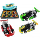 wholesale Kids Vehicles: 3-color METAL go-kart assorted about 13cm
