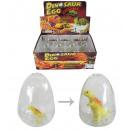 Uovo Dino con Dino in crescita nell'uovo chius