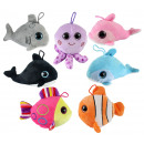 Sea animals with glitter eyes 7- times assorted ap