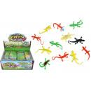 Großhandel Puppen & Plüsch: Gecko Eidechse Slamander dehnbar 12-fach sortiert