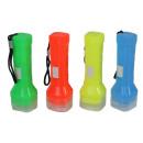 Großhandel Taschenlampen: Taschenlampe 4-farbig sortiert ca 9,5cm