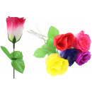 wholesale Artificial Flowers: 5-colored silk rose assorted approx 46cm
