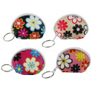Wallet 4 colors assorted with flower pattern appro