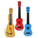 Gitarre 3-farbig sortiert ca 41cm