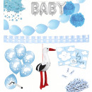 Baby Party Set blue 67 pieces