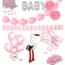 Baby Party Set Pink 67 Pieces