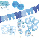 Baby party set blue 80 pieces