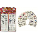Tattoos 8 - fold  assorted - on card in the bag ca