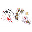Card game mini with 54 cards - ca 4x3cm
