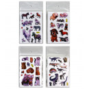 Stickers assorted cat, dogs, dino, horse - bow