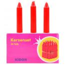 Kaarslantaarn kaarsen rood ca 60 mm