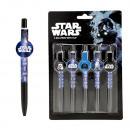 Großhandel Spielwaren: Kugelschreiber Star Wars auf Karte ca 22,5x15cm
