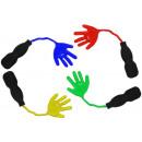 nagyker Szurkolói termékek és souvenir: Ragadós kéz botokkal kb. 7cm