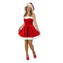 Großhandel Kopfbedeckung: Weihnachtskleid und Mütze aus Glanzsamt 38/40