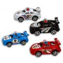 Car - auto della polizia 4x assortito approssimati