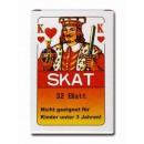 Skatkarten Spielblatt 32 Karten in Schachtel ca 9x