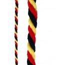 Großhandel Fanartikel & Souvenirs: Kordel schwarz-rot-gelb ca 8mm dick 1m