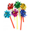 Pinwheel diverse colors ca 18 cm