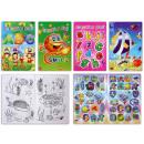 Libro da colorare con adesivi 4- volte assortito -
