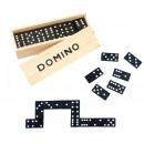 Domino in wooden box