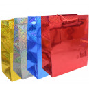 Sacchetto regalo Glitzertragetasche - 4 colori ass