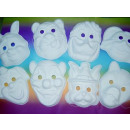 Mask - Carnival Mask - white -for children and adu