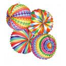 Lantaarn - Lantaarn 4x kleurrijke geassorteerd ca