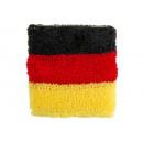 Großhandel Sportbekleidung: Schweißband in Deutschlandfarben ca 7x7cm
