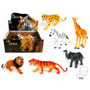 Zoo animals 6-fold assorted - about 13-15 cm