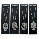 wholesale Pendant: Chain 4 assorted with skull and trailers -