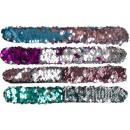 Großhandel Schmuck & Uhren: Klatscharmband Schnapparmband mit Pailletten ca 22