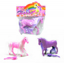 Horse pink and  purple ranked in the bag about 11 c