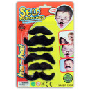 Moustache self-adhesive - 6 pieces on card CA 2